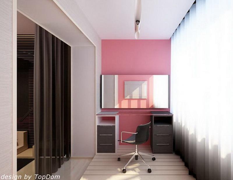 Интерьер лоджии: фото дизайна помещения 3, 6 метров.